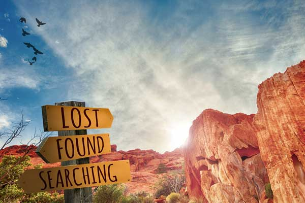 lost, found, and searching